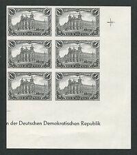 DR 63 SD REICHSPOST 1900 AMTL. SCHWARZDRUCK DDR 1984 ER-6er-Block RARE!! h0982