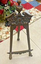 VTG  BRONZE BRASS EASEL ORNATE DISPLAY STAND Made in ITALY