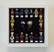 Minifigure Display Case Frame Lego Marvel Ironman mini figures Picture range