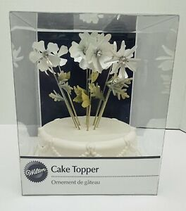 Wilton Just Married Wedding Cake Topper New In Package Flower Pick