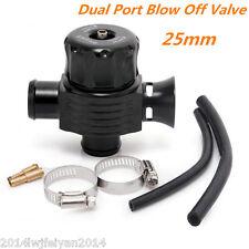 Universal 25mm Dual Port BOV Dump Valve Car Auto Turbo Blow Off Valve BOV Black