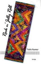 JELLY ROCK N JELLY ROLL TABLE RUNNER QUILTING PATTERN, From Tiger Lily Press NEW