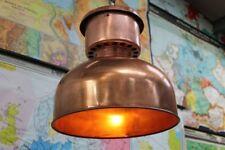 More details for vintage copper pendant light refurbished light fitting for restaurants and bars