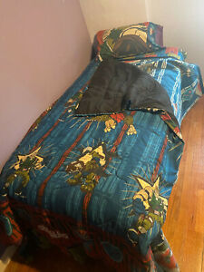 Vtg 90s Small Soldiers Twin Fitted Bed Sheet, Pillowcase, Blanket, & Comforter