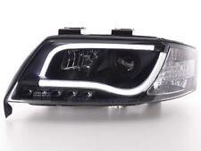 Coppia Fari Fanali Anteriori Tuning Dayline DRL LTI CCFL Audi A6  4B 97-01 nero