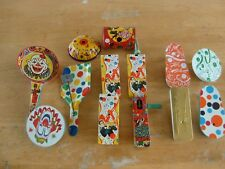 noise makers new years vintage lot us metal toy