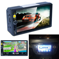"7"" HD Car In-dash Radio Player Double 2 Din Stereo Monitor GPS FM/AM NA+EU Maps"