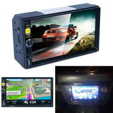 "7"" HD Car In-dash Radio Player Double 2 Din Stereo Monitor GPS FM/AM NA+EU Maps"