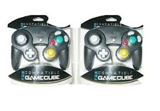 2 [TWO] BLACK CONTROLLERS FOR NINTENDO GAMECUBE SYSTEM BRAND NEW SEALED