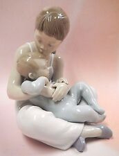 SIBLINGS - SISTER GIRL HOLDING BROTHER PORCELAIN FIGURINE BY LLADRO 2016  #9236