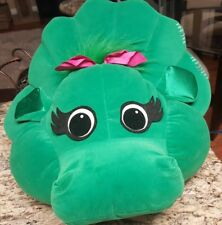 Baby Bop Vintage Barney The Purple Dinosaur Deluxe cloth Pillow w/ Carry Handle