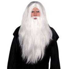 Parrucche e barbe bianchi Amscan per carnevale e teatro, tema natale