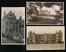 Somerset MONTACUTE House x9 c1920/50s? RP PPCs