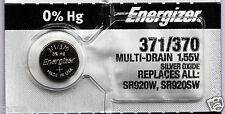 1 x ENERGIZER SR920SW 371 Silver Oxide 1.55v Watch Battery Aussie Stock FastPost