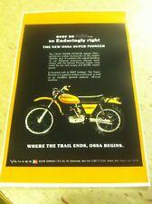 Vintage Ossa Dirtbike Motorcycle Poster Advertisement Man Cave Gift