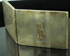 1937 POLAND STERLING SILVER & GOLD ANTIQUE GOLD GILDED CIGARETTE CASE Warsaw!
