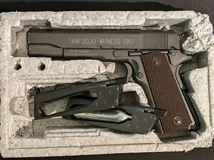 Tanfoglio Witness 1911 Full Metal Steel BB Airsoft Airgun Gas - 2 Magazines