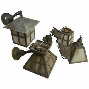 Vintage Period Craftsman Lamp Set Miscellaneous Sizes (4 Pieces) USED