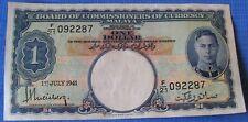 Malaya un dólar billete de banco, Julio de 1941, Consejo de moneda malaya, Nef