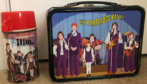 NICE! 1971 THE PARTRIDGE FAMILY LUNCHBOX WITH THERMOS