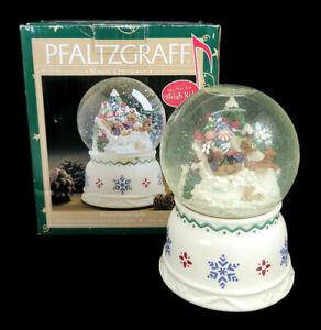 "Pfaltzgraff Nordic Christmas Musical Snow Globe Plays ""Sleigh Ride"" 247-153-00"