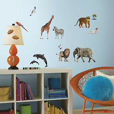 ANIMALS OF THE WORLD WALL DECALS 92 Jungle Farm Safari Ocean Animal Stickers