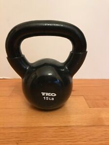 TKO BRAND NEW 15LB VINYL DIPPED KETTLE BELL WEIGHT FOR COMMERCIAL GYM IRON