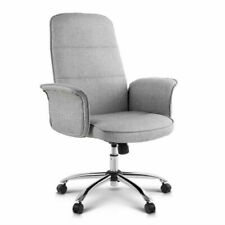 Chair Office Desk Computer Task Grey Fabric Student Work Seat Modern 360 Swivel