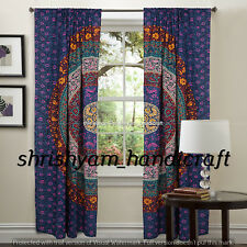 Indian Mandala Curtains Cotton Wall Tapestry Windows Drapery Curtains Dorm Throw
