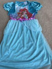 Guc Disney Little Mermaid Pj Pajama Dress Girl Blue C1 Sz 6/6x