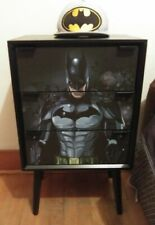 Custom Made Batman 3 Drawer Chest Nightstand Black Solid Pine Wood Boys Bedroom