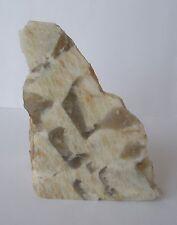 Graphic Smokey Quartz Feldspar Crystal Face Polished, Zebradorite 6.5cm