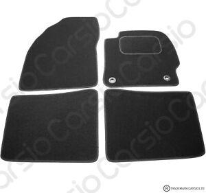 Toyota Prius 2012 to 2016 Fully Tailored Black Car Floor Mats Carpet 4pc Set
