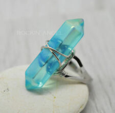Silver Plated Quartz Costume Rings