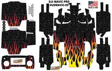 DJI Mavic Pro Skin Wrap Decal Sticker Flames Skull Battery Body Ultradecals