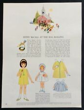 Vintage Betsy McCall Mag. Paper Doll, Betsy McCall at the Egg Rollin, March 1964