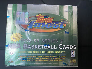 1998-99 Topps Finest Series 2 Basketball Sealed Hobby Box Great Rookies!