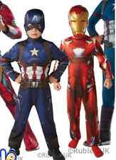Kids Captain America AND Iron Man Costume CIVIL WAR Boys Superhero Fancy Dress