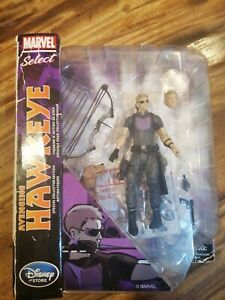 """MARVEL SELECT AVENGING HAWKEYE 7"""" ACTION FIGURE Disney Store EDITION"""
