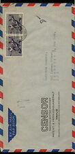 Liechtenstein  280  pair  on cover  to  US 1954                MS1211