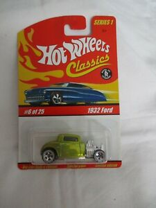 Hot Wheels Classics Series 1 1932 Ford Yellow Variation Mint In Card