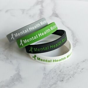 (X1) MENTAL HEALTH MATTERS Awareness Bracelets Wristband Every Mind Matters