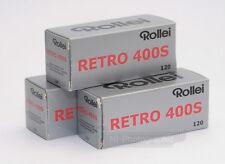 Rollei Retro 400S Black & White Film 120 Roll 3 Rolls Expiry Date 12/2020