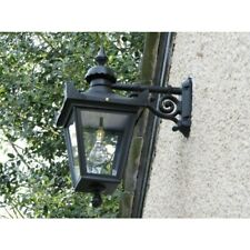 USED Ex-Display 63cm Black Top Fix Suspended Victorian Hanging Wall Lantern