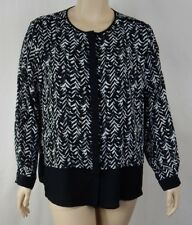 NEW Extra Pepper Black Long Sleeve Button Down Shirt Top Plus Size 20 BNWT #S19