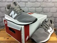 NEW BALANCE MENS UK 8 EU 42 CLASSIC 247 GREY WHITE MESH TRAINERS RRP £65   KL