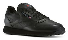 Reebok Classic Leather Black Mens Running Tennis Shoes Item 116