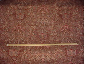 1-1/2Y Kravet Couture Joseph Abboud Tazza Reds Floral Paisley Upholstery Fabric