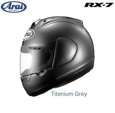 #ARAI RX-7 MOTORCYCLE HELMET - TITANIUM GREY - LARGE - BRAND NEW - £189.99
