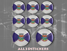 8 x 3D ROUND Stickers Resin Domed Flag São Gonçalo - Adhesive Decal Vinyl